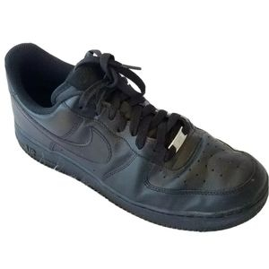 Other - NIKE Air Force I Black Sneakers Men's 11